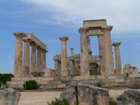rebuild: the temple of afesas on the island of aegena in greece
