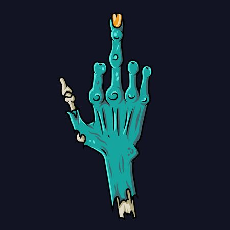 Color print cheeky zombie hand for halloween