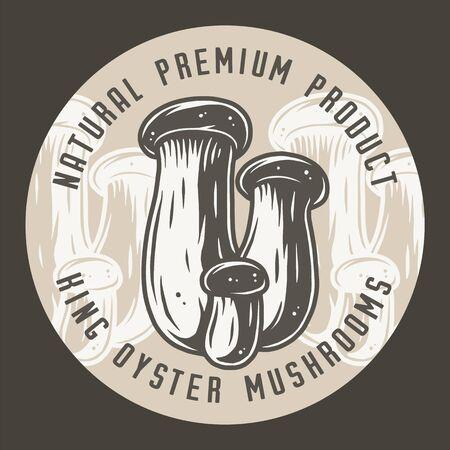 Autumn forest king oyster mushroom picking, vegetarian menu
