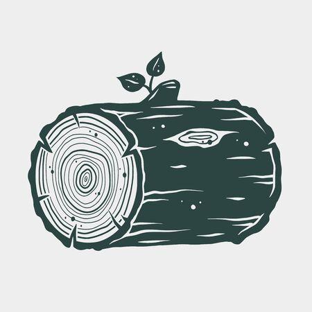 Carpenter wood design element in vintage style label, badge, t-shirts. Carpentry retro vector illustration