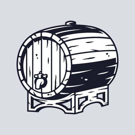 Wooden barrel for beer wine whisky bar