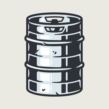 Metal craft beer keg for bar and festival