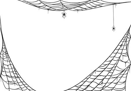 Spider web for cards and background for Halloween