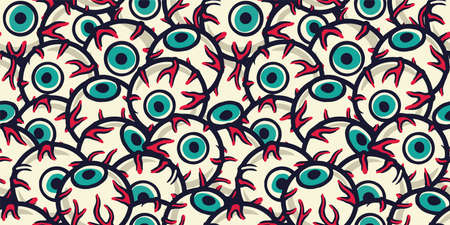 Pattern wallpaper with eyes for halloween holiday