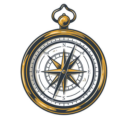 Colored element of a compass for camping or travel