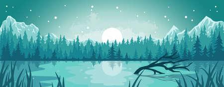 Landscape outdoor wild nature lake or wanderlust