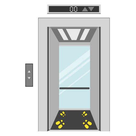 comment utiliser la distanciation sociale dans l'ascenseur pour prévenir les infections du virus covid-19
