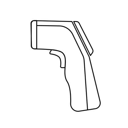 Non-Contact infrared thermometer icon vector, flat design line art. Vektorgrafik