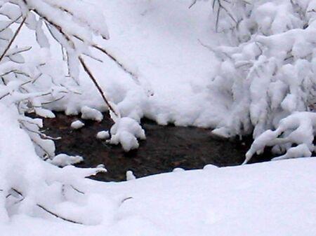 雪ストリーム 写真素材
