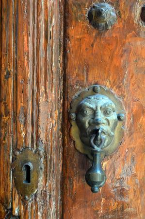 Detail of door colonial house, Queretaro, Mexico