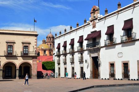 square: Square of Queretaro, Mexico. Stock Photo