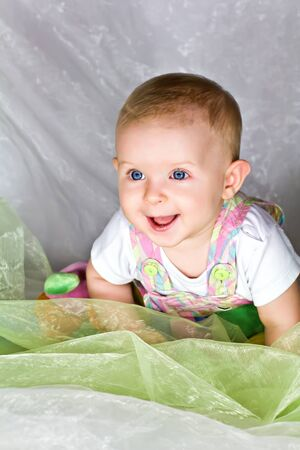 Cute smiling little baby girl Stock Photo - 15021735