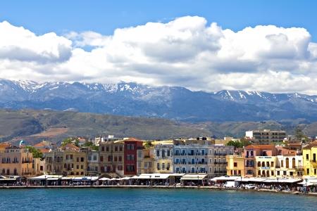 Venezian harbor in Chania,Crete