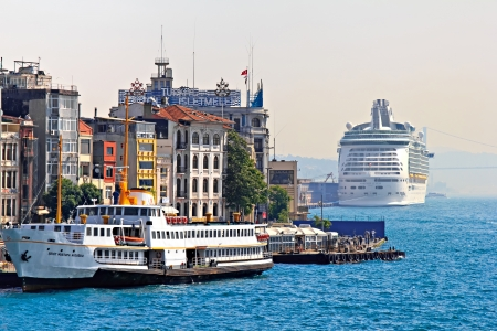Seaport at the Bosporus in Istanbul, Turkey