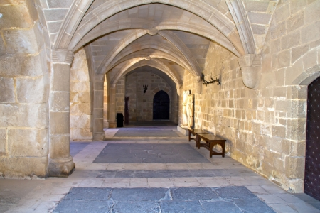 Vault gangway in the Grand Master Palace at Rhodes island, Greece