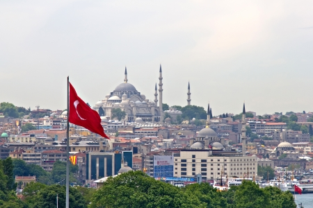 The cityscape of Istanbul, Turkey Stock Photo