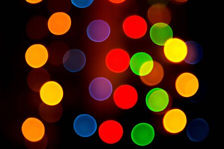 Abstract colorful background with blurred lights photo