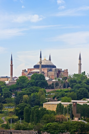 Hagia Sophia Dome in Istanbul, Turkey photo