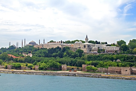 The cityscape of Istanbul, Turkey, view from Bosporus strait photo