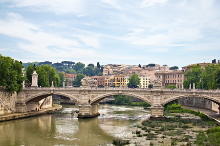 Saint Angelo bridge and Tiber, Rome, Italy Stock Photo - 17098962