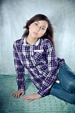 Portrait of the gorgeous teenage girl Stock Photo - 18205185