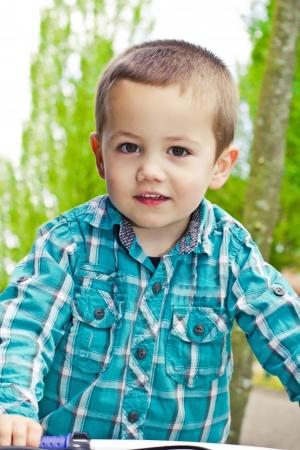 Portrait of the cute little boy
