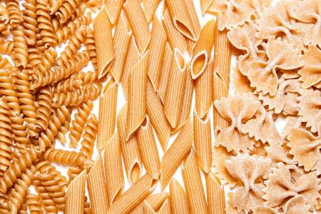 rotini: Three dried pastas - Rotini, Farfalle, Penne