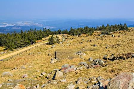 brocken: On the Brocken mountain in Harz, Germany Stock Photo