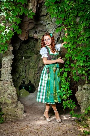 Beautiful german woman wearing dirndl Stock Photo - 21893654