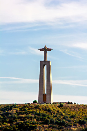 Christ the King statue in Almada, Lisbon, Portugal photo