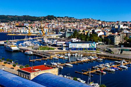 inlet bay: Port of Vigo, Galicia, Spain