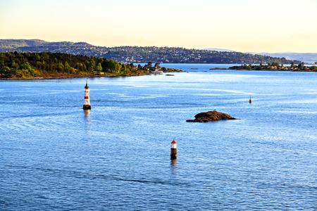 Sea surroundings near Oslo, islands, Norway