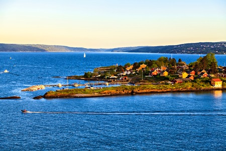 scandinavian peninsula: Sea surroundings near Oslo, islands, Norway