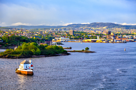 sea view: Modern district of Oslo, view from the water