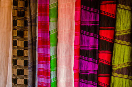 thai people: colorful cloth product from native Thai people in Chiangrai, Thailand