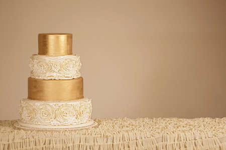 front desk: Wedding Cake Stock Photo
