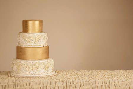 white women: Wedding Cake Stock Photo