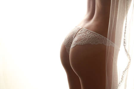 panties: Parte posteriora Atractiva Foto de archivo