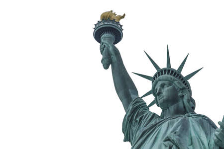 Statue of liberty yellow tape Stockfoto - 115016849