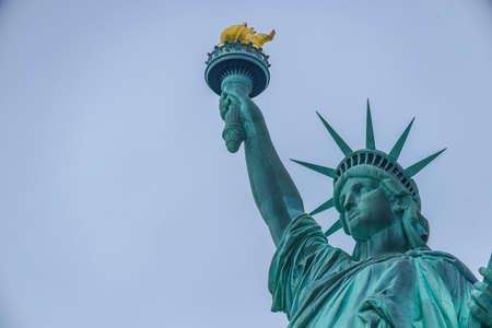Statue of liberty yellow tape