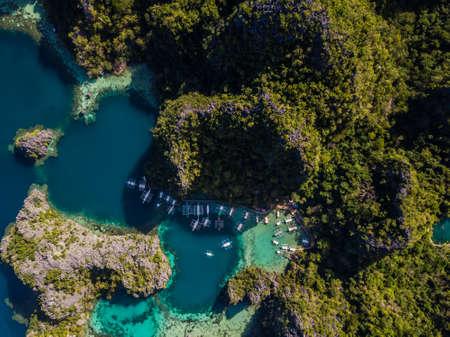 Lagoons in coron Philippines