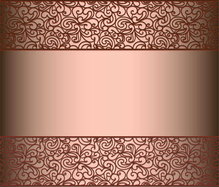 vintage lace: Vintage lace background for envelope, card or invitation with abstract lace borders. Red Marsala color. Vector Illustration