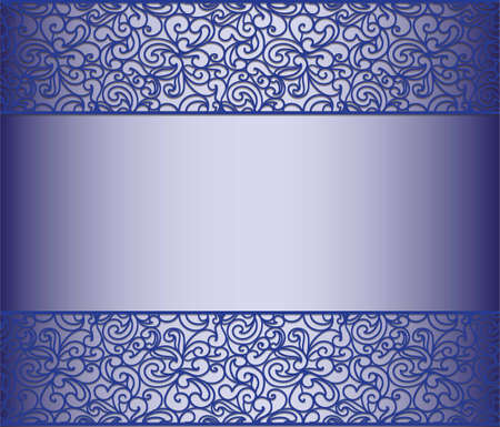 royal background: Vintage lace background for envelope, card or invitation in royal blue color. Vector Illustration