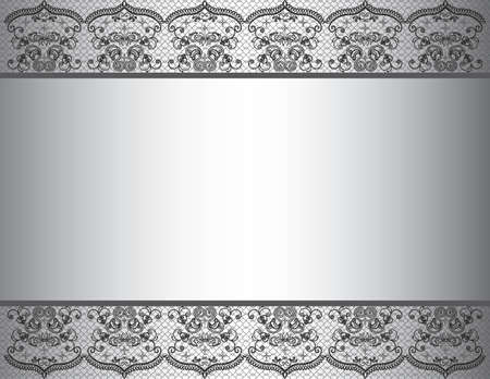 marriage invitation: Invitation card with black and white colors in gradient. Vector