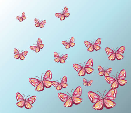 butterfly background: Colorful Butterfly Background. Vector