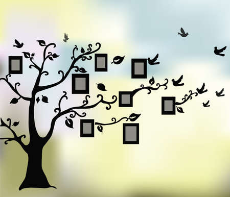 graphic illustration: Abstract Magic Tree of Life.  Illustration