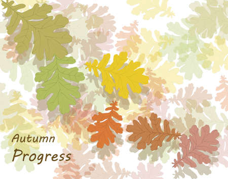 autumn background: Autumn background with maple leaves.