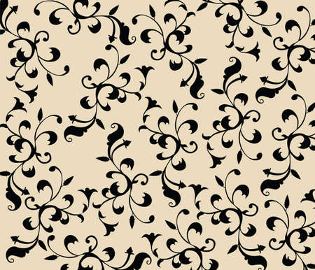 vintage floral pattern: Gothic style vintage floral pattern in black and white composition. Vector