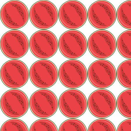 eywords background: Watermelon pattern. Vector