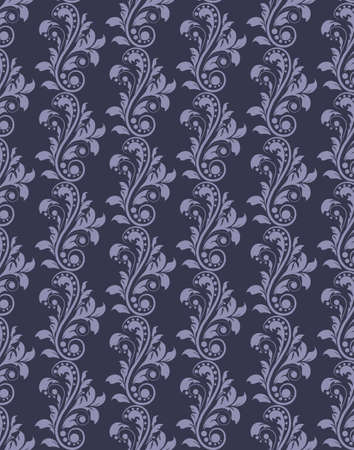 acanthus: Classic royal ornament acanthus flower pattern background. Vector